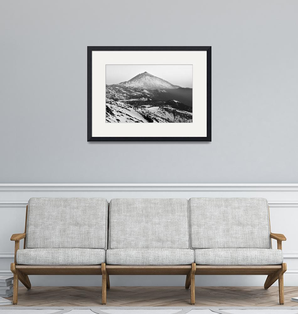 """""""Winter In Teide National Park Monochrome""""  (2018) by mStepanPhotographer"""
