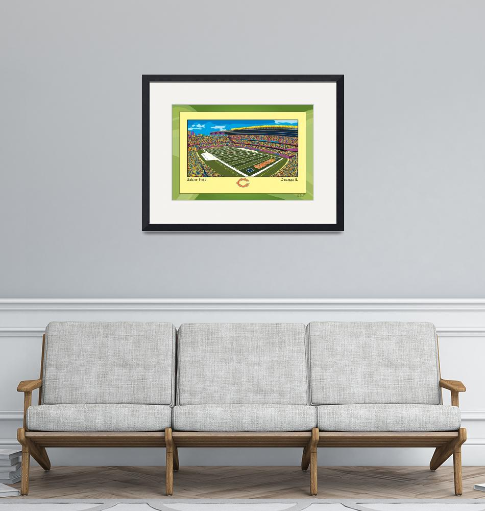 """""""Soldier Field""""  (2013) by alankalish"""