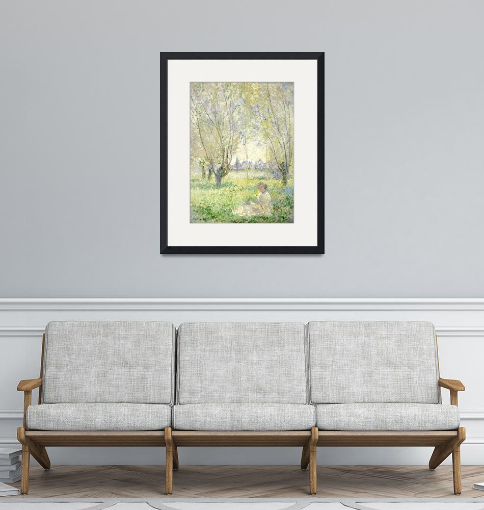 """""""Woman Seated under the Willows by Monet""""  by FineArtClassics"""