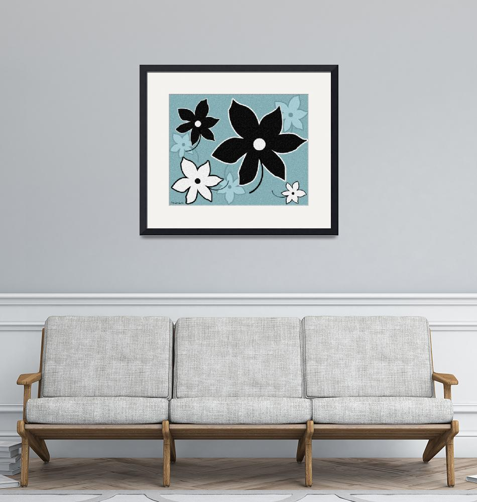 """""""Blue And Black Flower Delight""""  (2014) by TruthJC"""