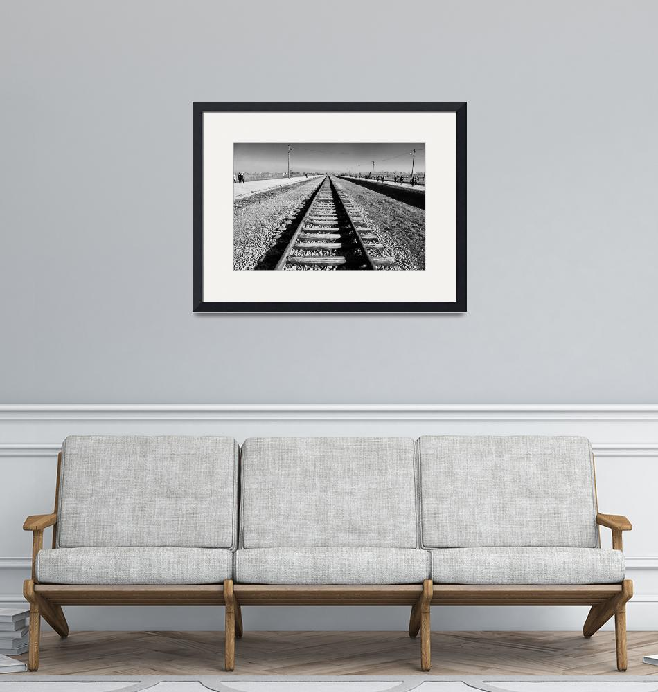 """Railway into Auschwitz""  (2017) by matthewjgreen87"