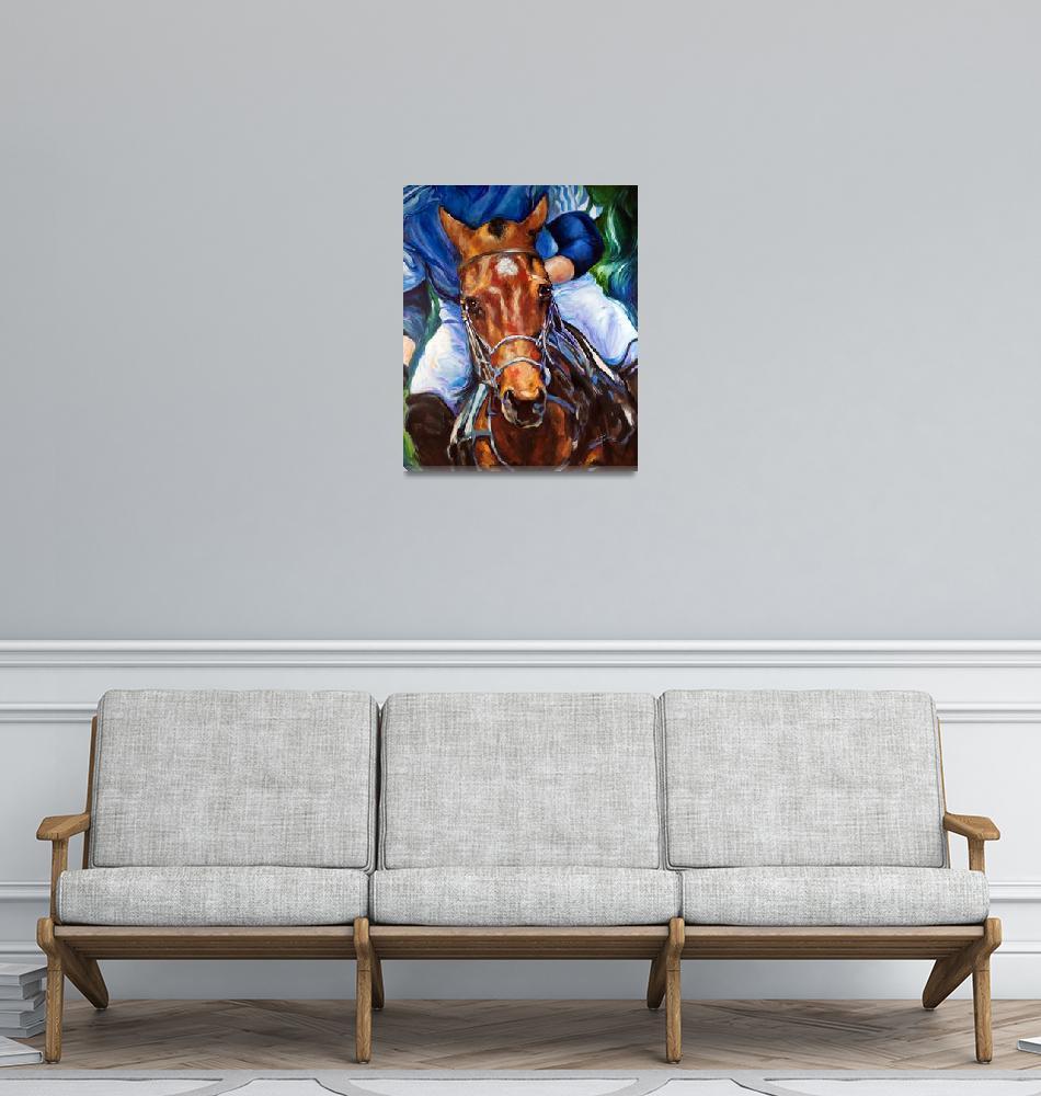 """POLO HORSE ORIGINAL by MARCIA BALDWIN""  (2013) by MBaldwinFineArt2006"