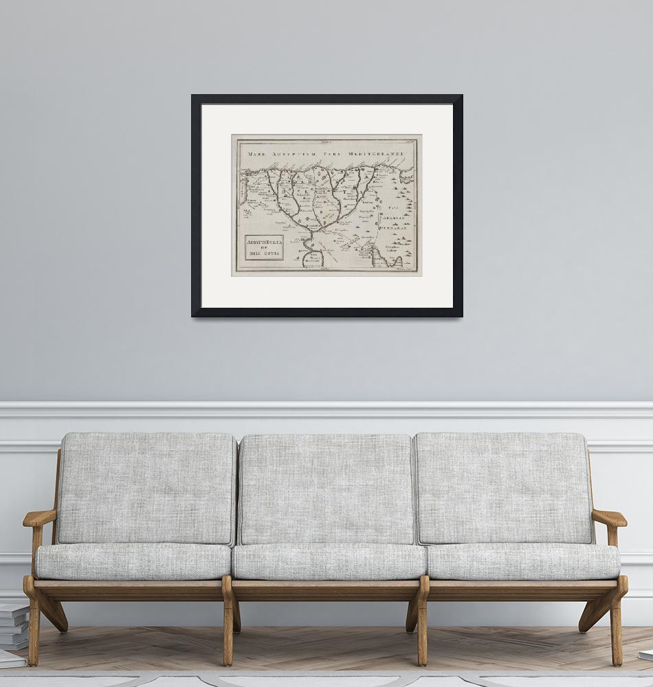 """""""Old Nile Delta Map (1700s) Vintage Egypt River Bas""""  by Alleycatshirts"""