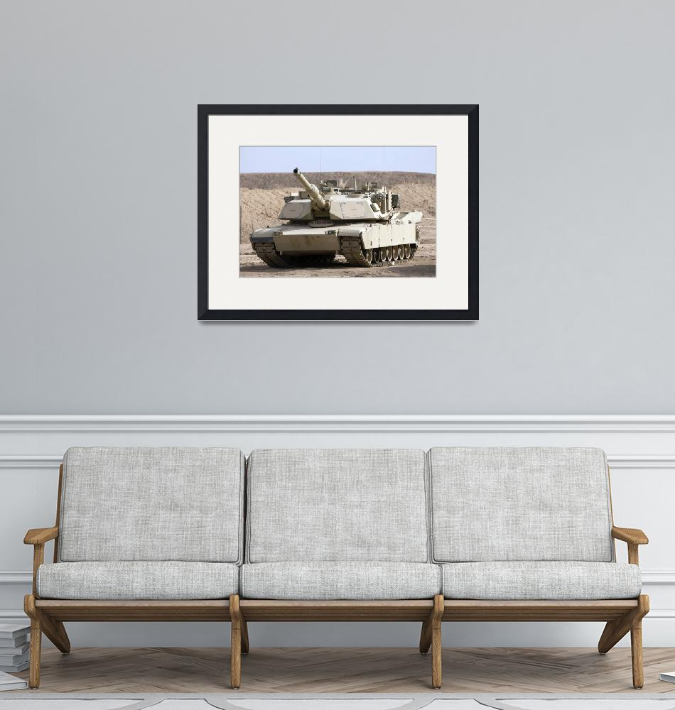 """""""M1 Abrams tank at Camp Warhorse""""  by stocktrekimages"""