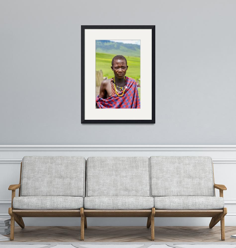 """""""Portrait of Young Maasai 4300""""  by amynnasser"""