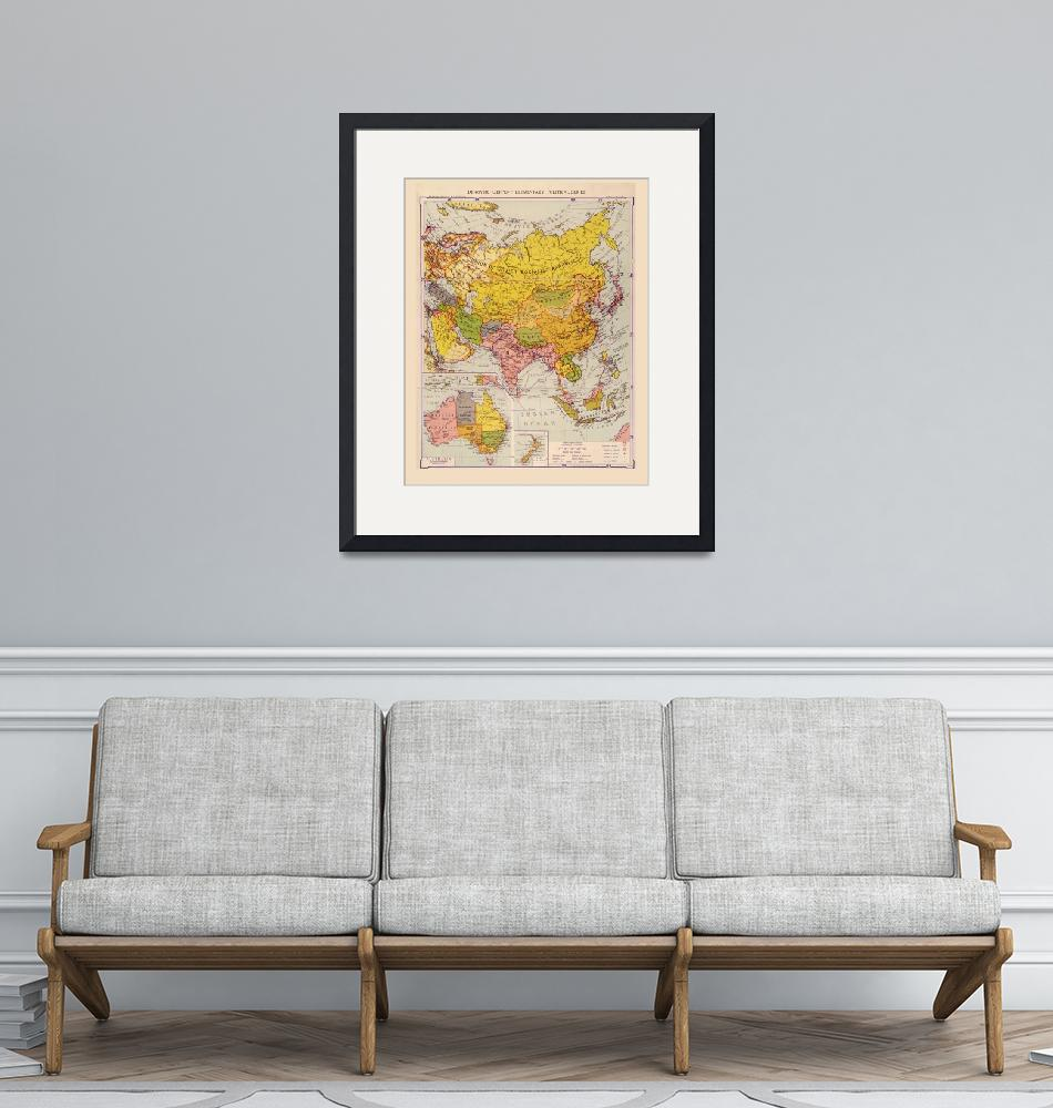 """""""Map of Asia (1934)""""  (1934) by ArtHistory"""