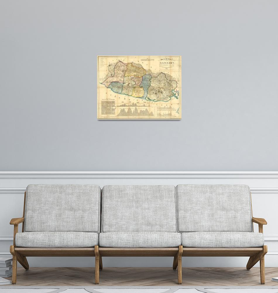 """Vintage Map of El Salvador (1858)""  by Alleycatshirts"