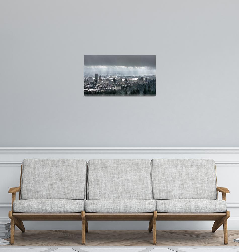 """Portland Oregon After a Morning Rain""  (2014) by boppintheblues"