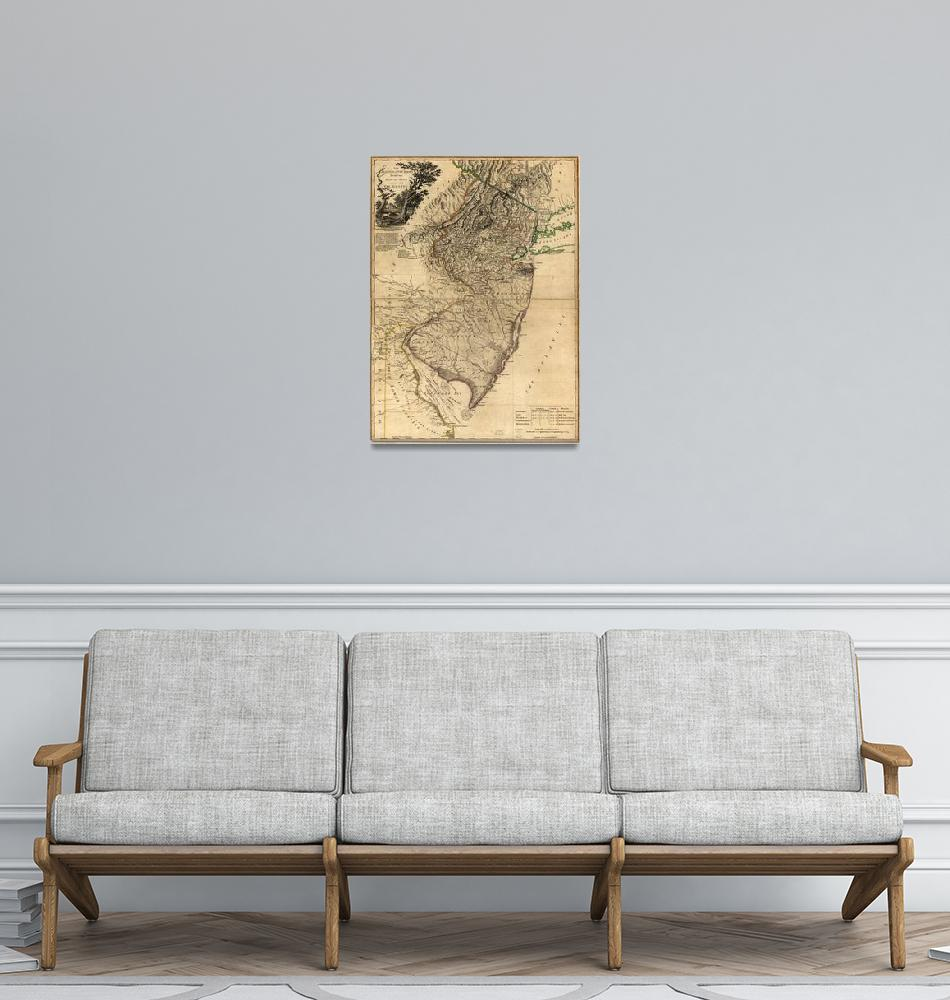 """""""Map of New Jersey (1778)""""  by ArtHistory"""
