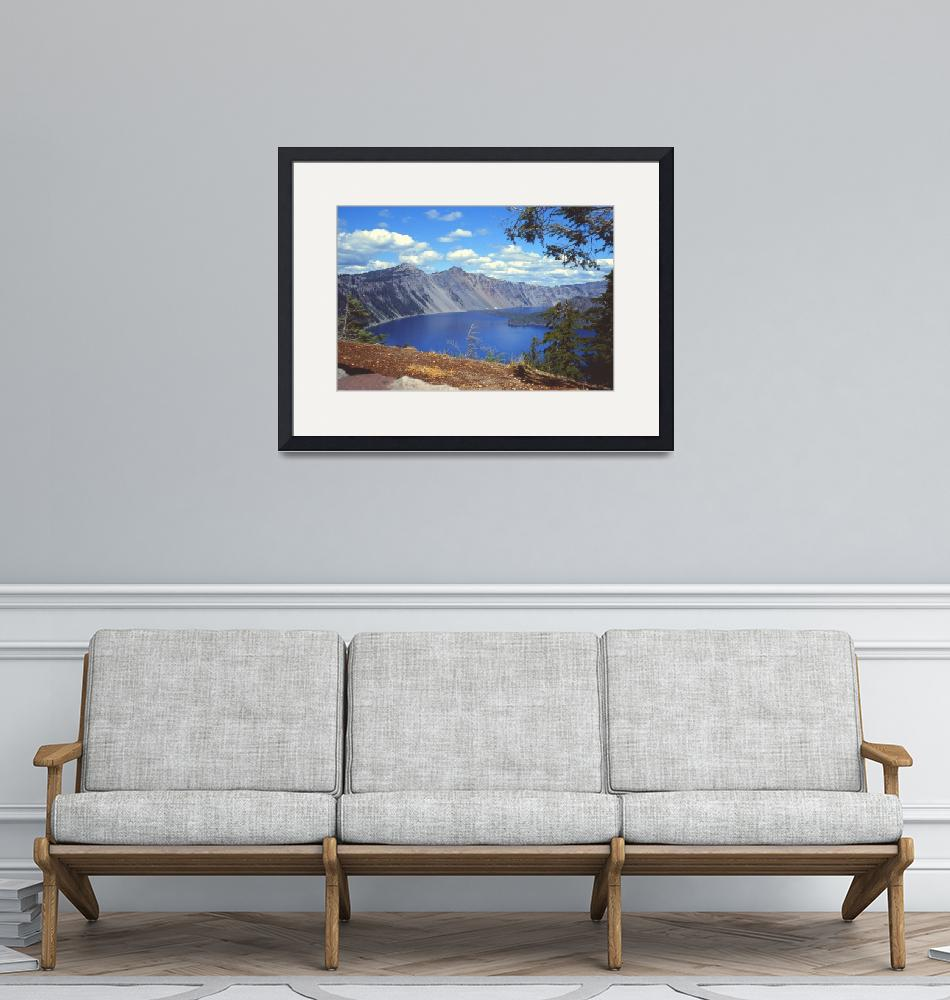 """Clouds over Crater Lake 1979""  (1979) by PriscillaTurner"