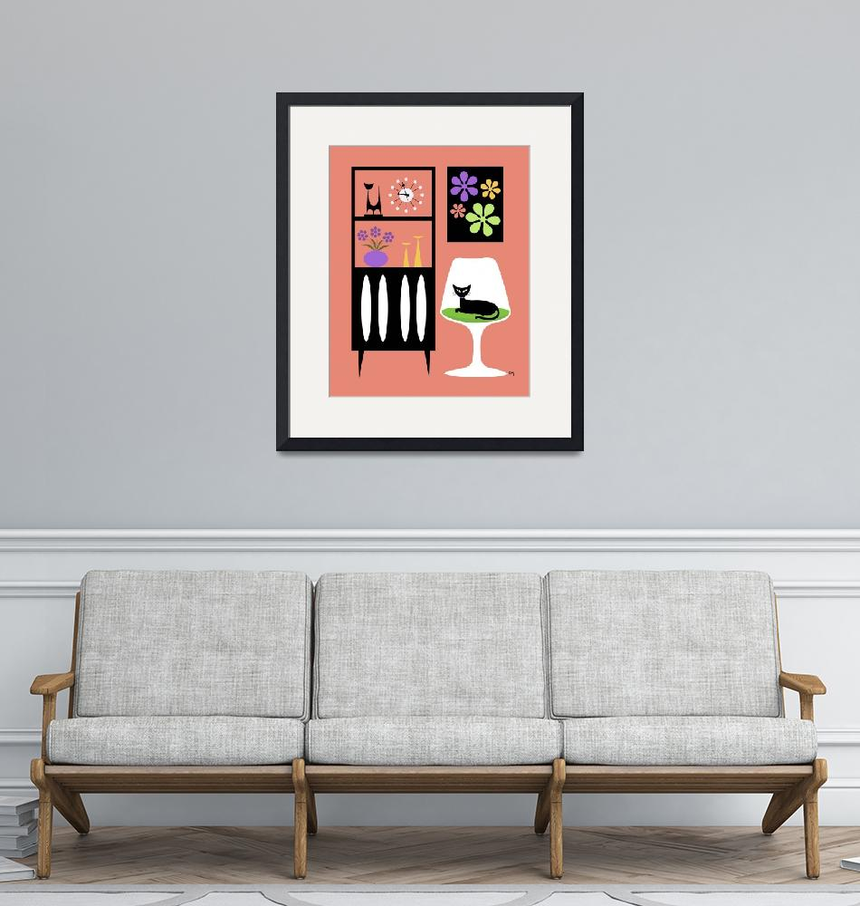 """Cat in Pink Room"" (2012) by DMibus"