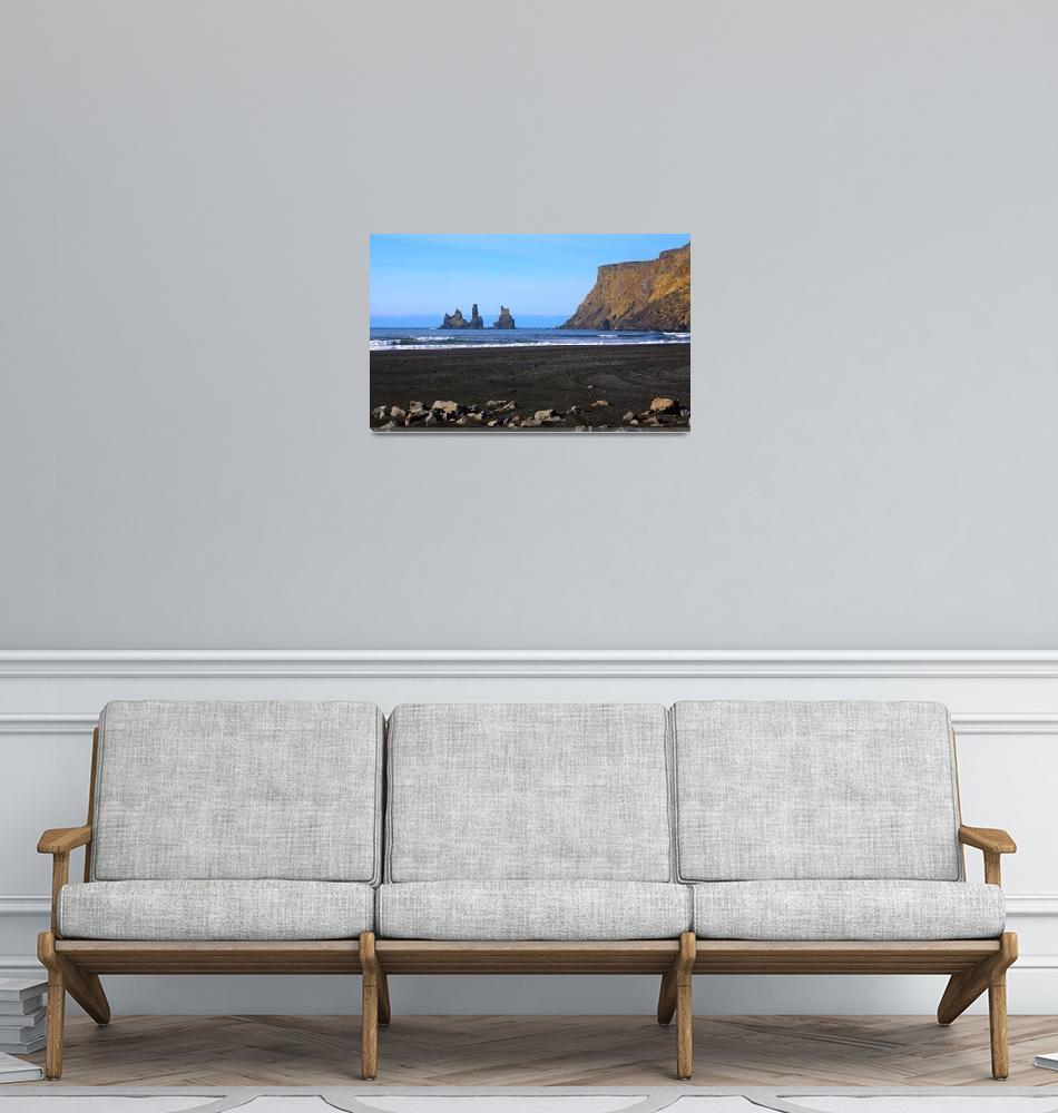 """Reynisdrangar Stacks at Vik, Iceland""  (2019) by ChrisSeufert"