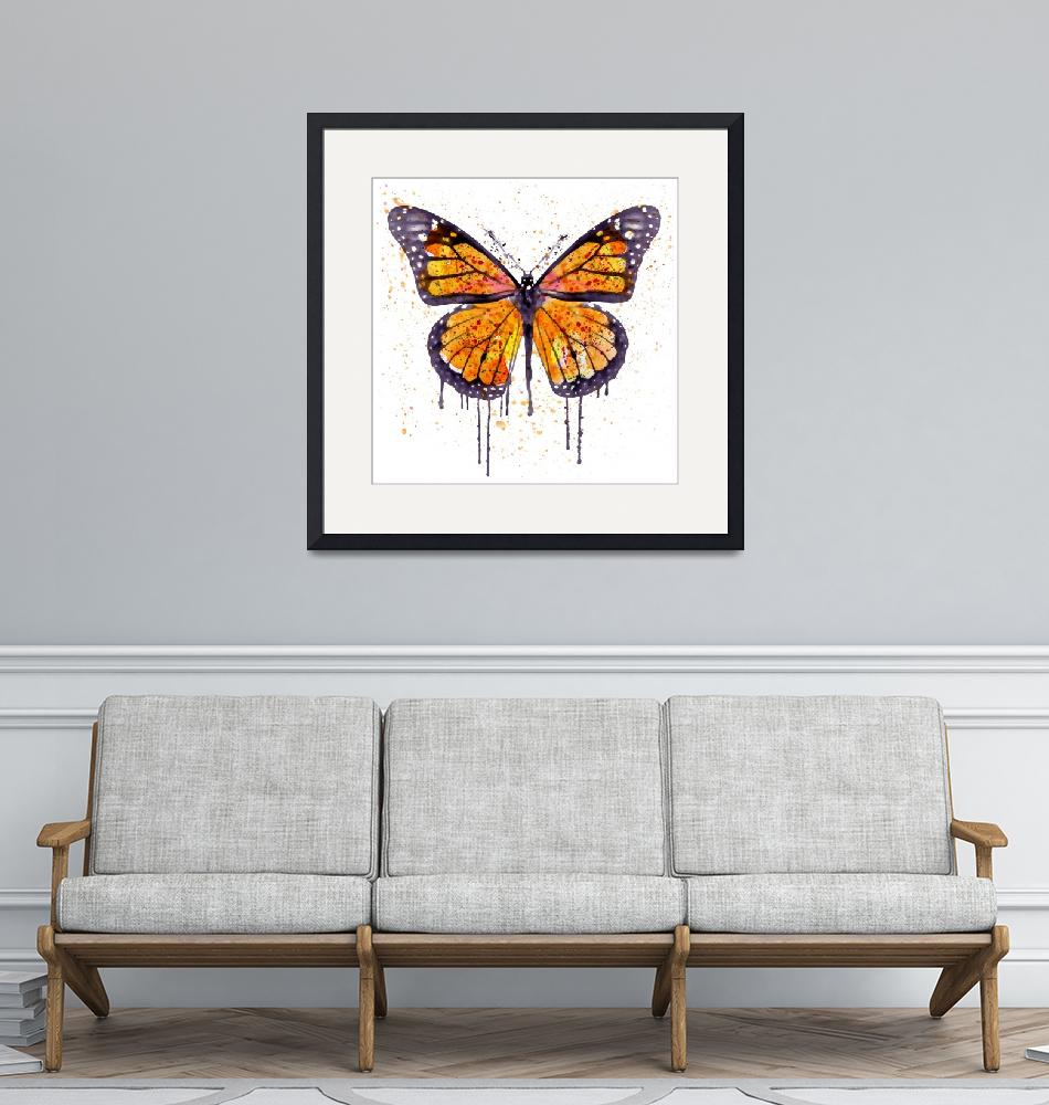 """""""Monarch Butterfly Watercolor""""  (2015) by MarianVoicu"""
