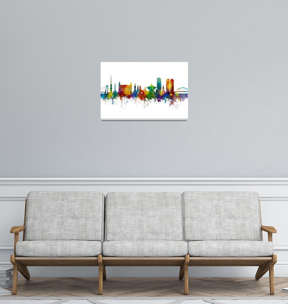 """""""Bratislava Slovakia Skyline""""  (2019) by ModernArtPrints"""