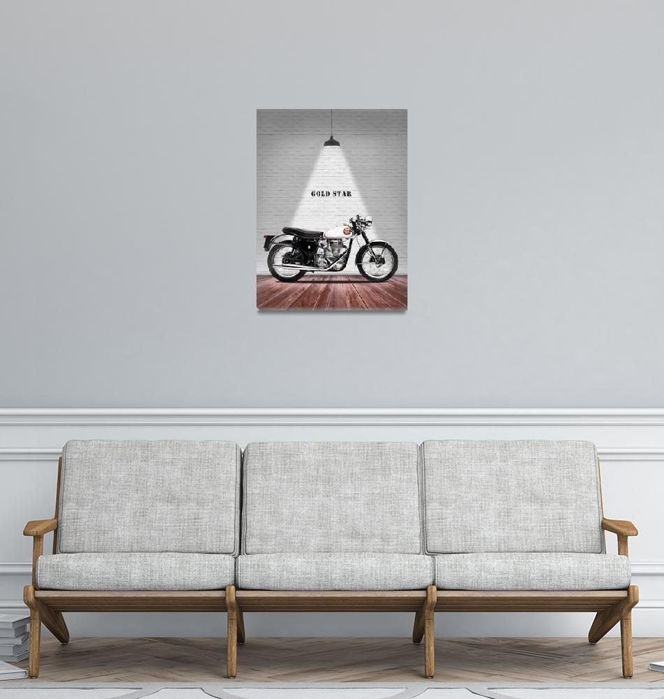 """""""The Gold Star 1954 Motorcycle""""  by mark-rogan"""