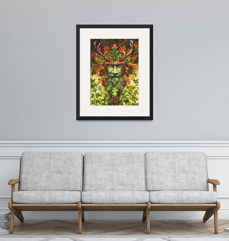 """The Green Man"" (2018) by MightyFineArt"