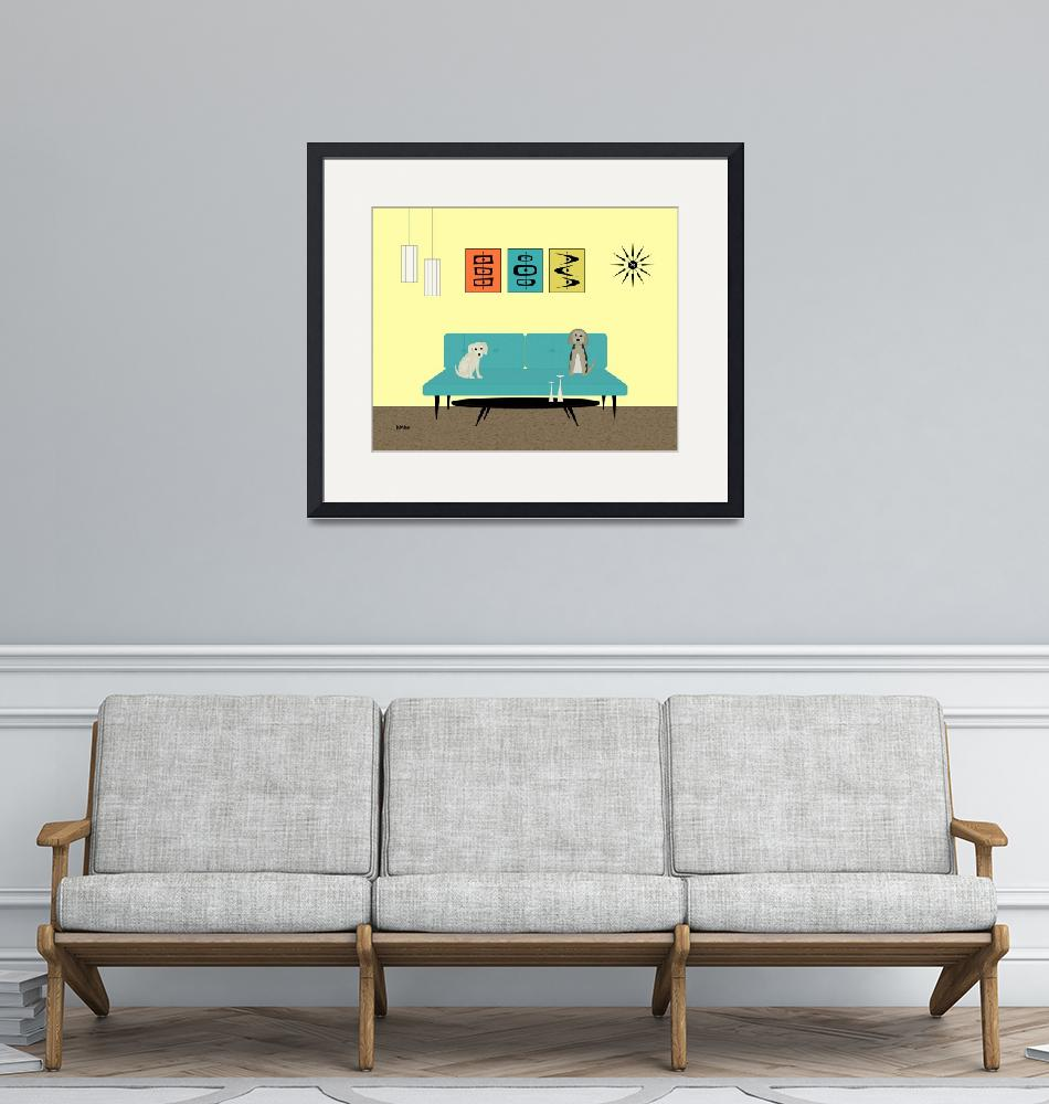 """""""Mid Century Yellow Room 2""""  by DMibus"""