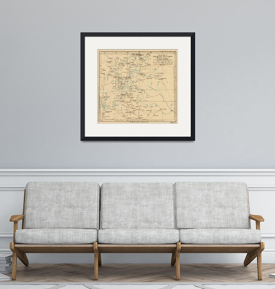 """""""Vintage Map of Ethiopia (1919)""""  by Alleycatshirts"""