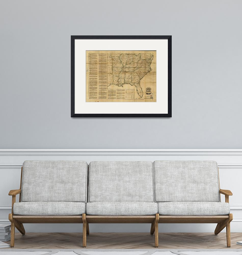 """Historical Civil War Map (1862)"" by ArtHistory"