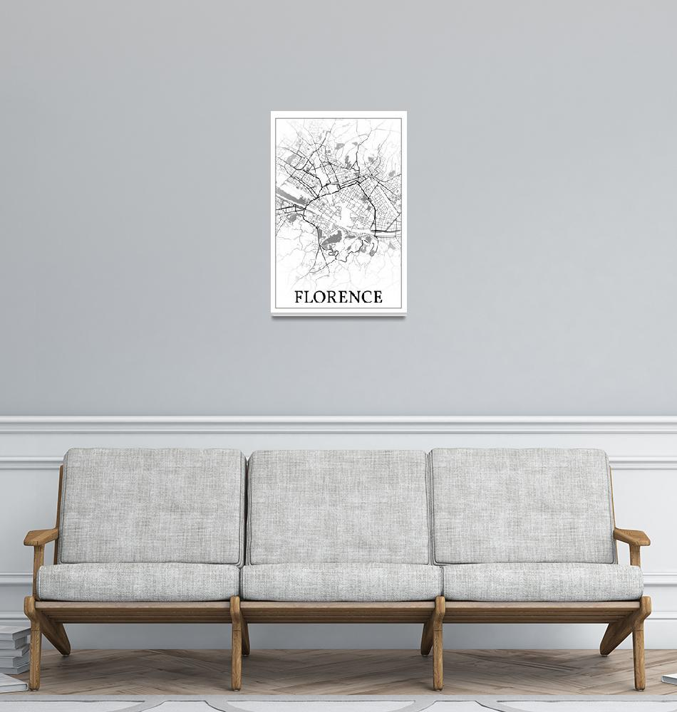 """""""Florence, Italy, city map print.""""  by dandistudio"""