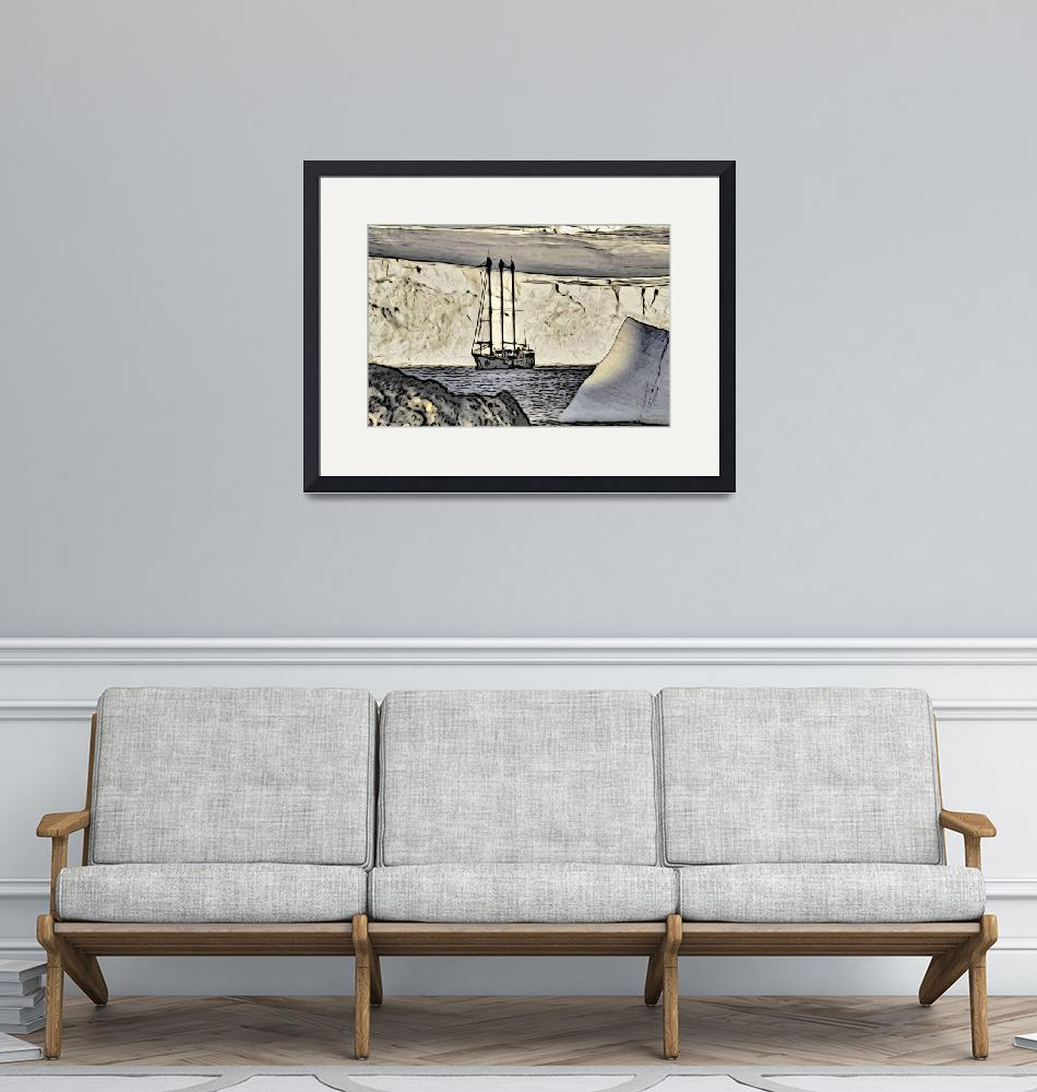 """Sednaiva, a Yacht in the Antarctica""  (2012) by WallArtDeco"