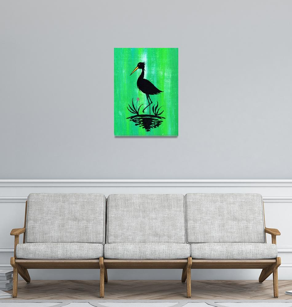 """Egret on One Leg""  (2014) by LimeCreekArt"