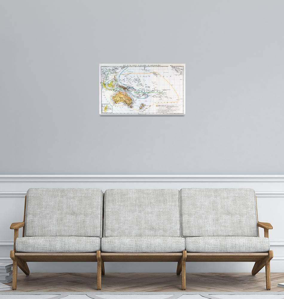 """""""Map of the races of Oceania and Australasia""""  by fineartmasters"""