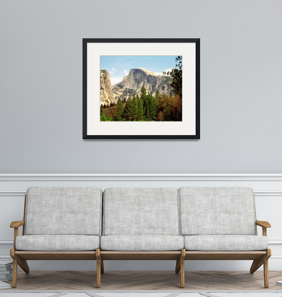 """Half Dome Framed""  by buffaloworks"