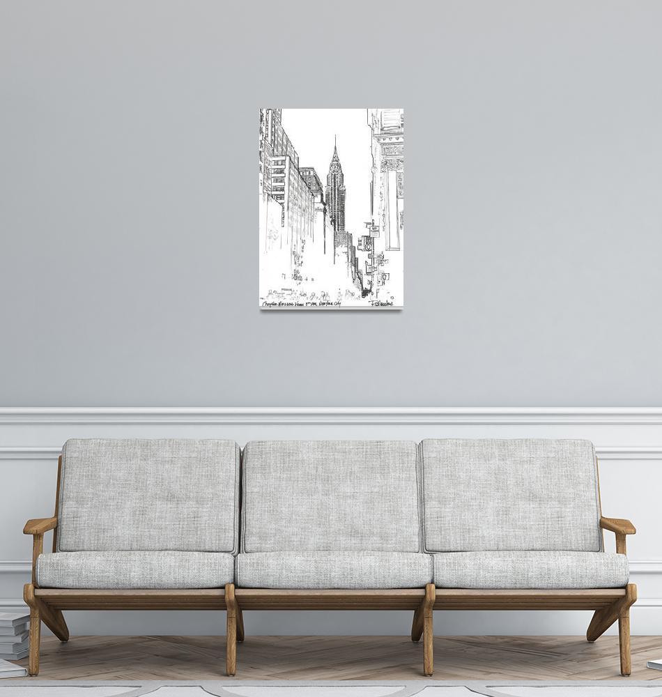 """42nd Street New York City Chrysler Building""  (2005) by RDRiccoboni"