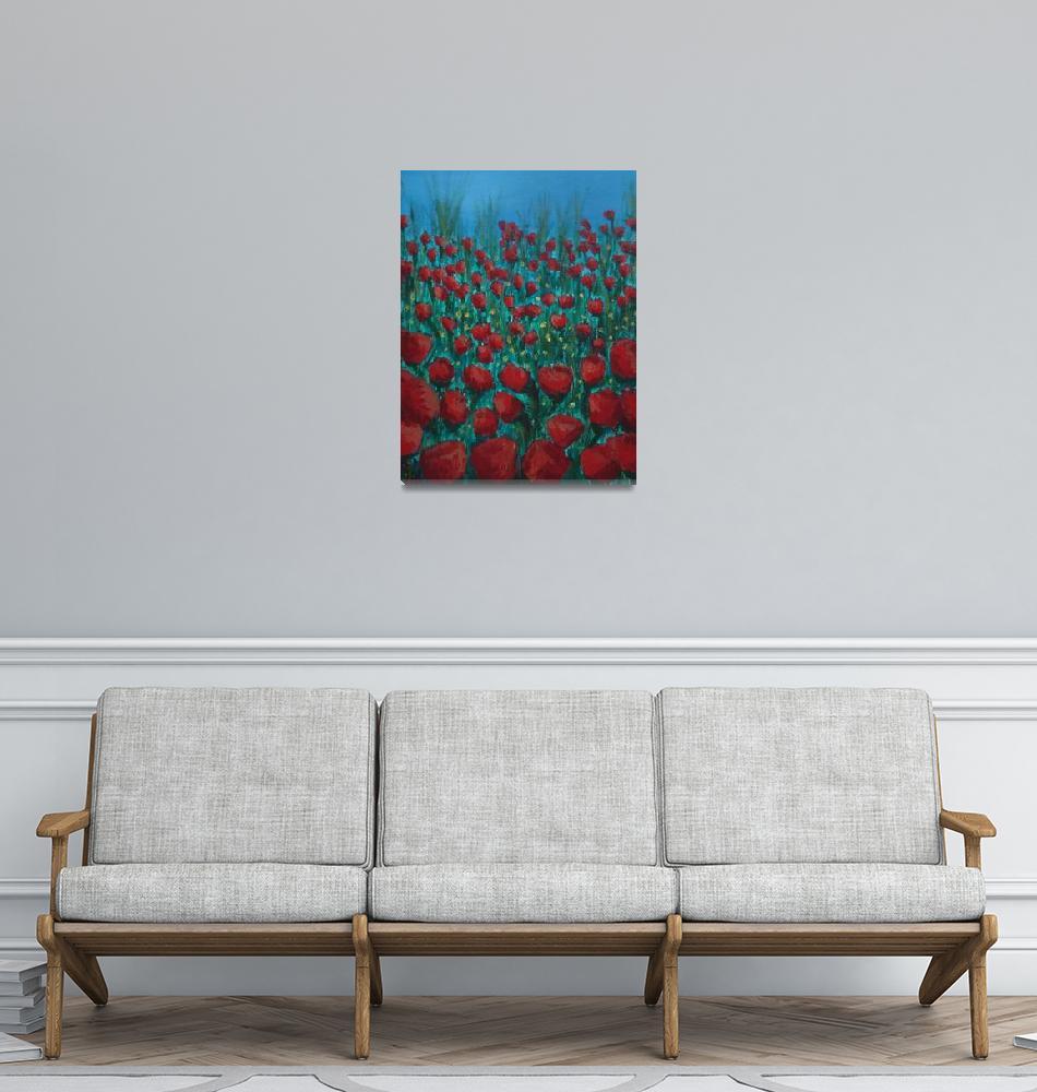 """""""Red Poppy Field""""  (2006) by kerian"""
