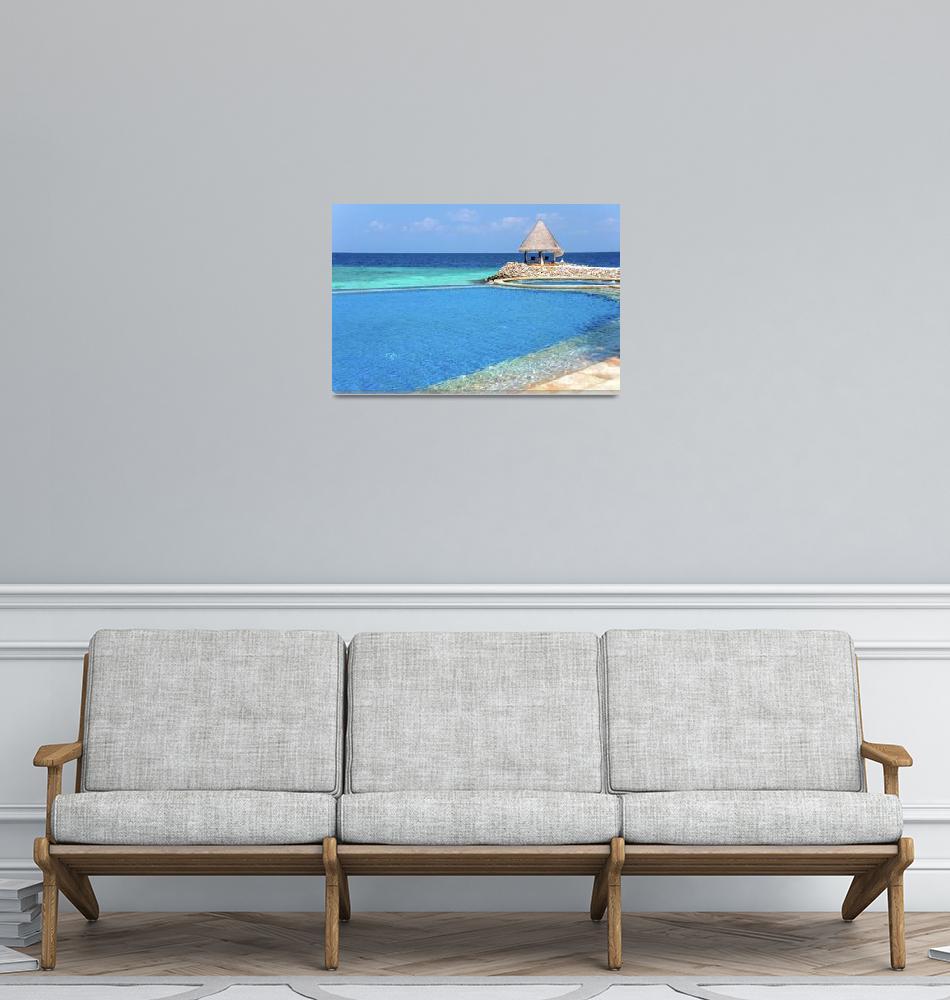 """Blue Infinity Pool. Maldives""  by JennyRainbow"