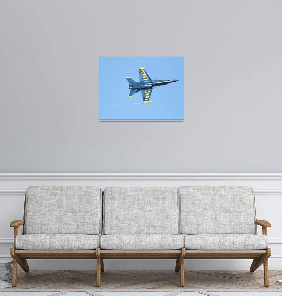 """""""Blue Angels With Wing Vapor""""  (2010) by wingsdomain"""