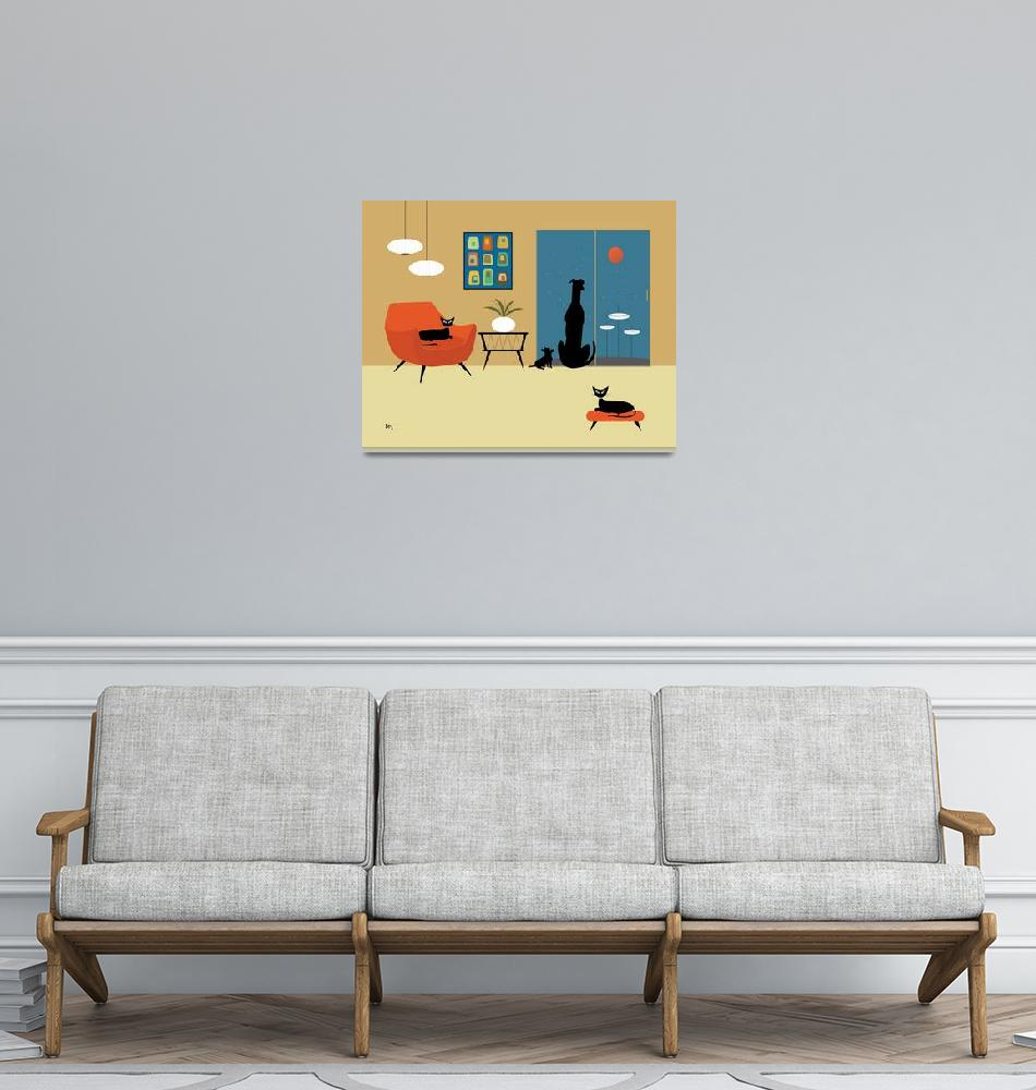 """Mid Century Dogs and Cats"" (2013) by DMibus"