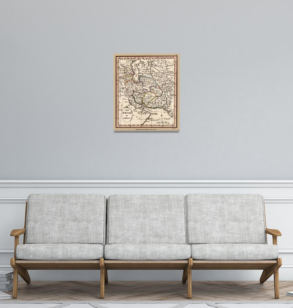 """""""Persia Old Antique Map 1798""""  (2020) by WilshireImages"""