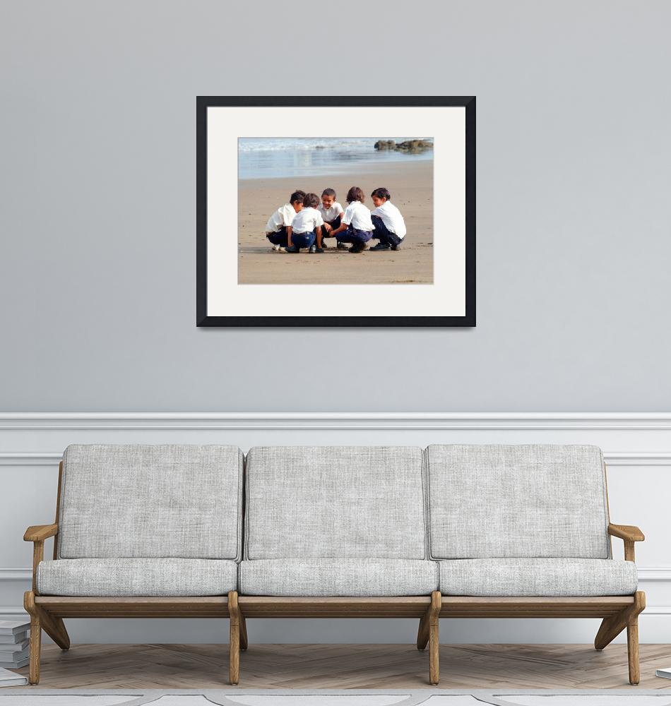 """""""Children at the beach""""  by eyalna"""