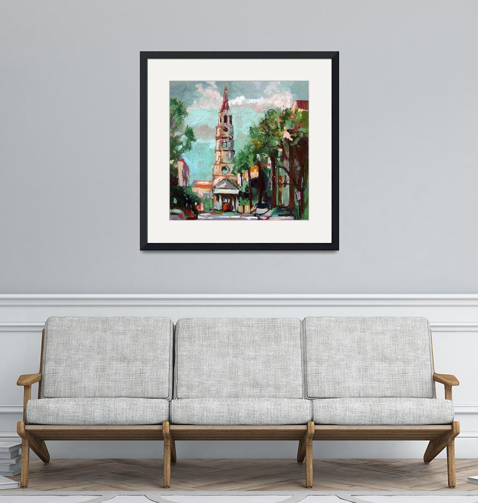 """""""St Phillips Church Charleston SC Oil Painting Gine""""  (2005) by GinetteCallaway"""