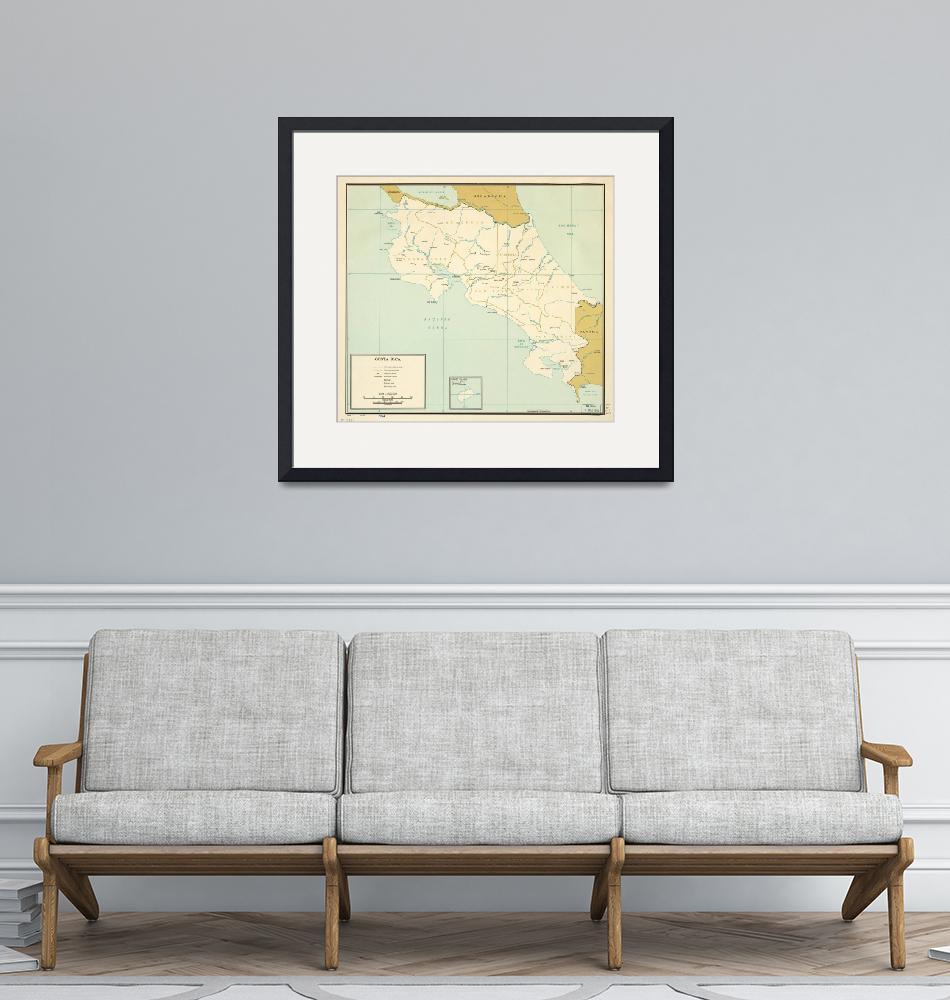 """""""Map of Costa Rica (1963)""""  by ArtHistory"""