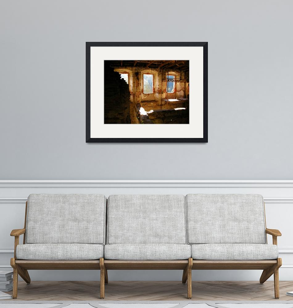 """""""Interior Shot of an Old Castle""""  by Artsart"""