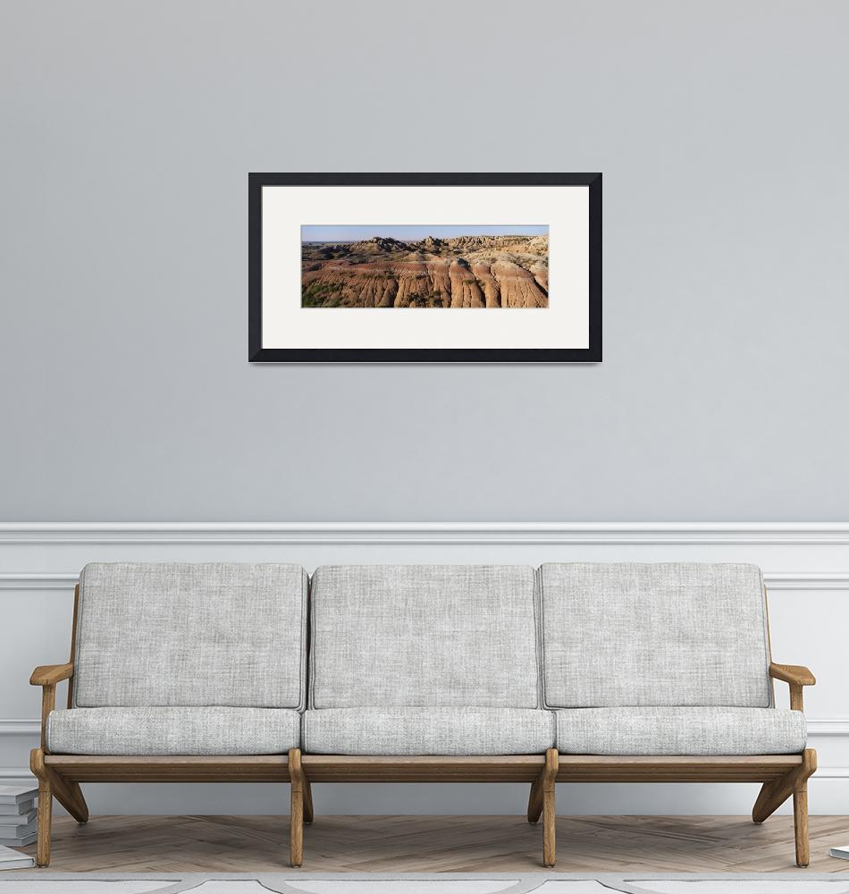 """Banded Buttes Badlands National Park SD""  by Panoramic_Images"