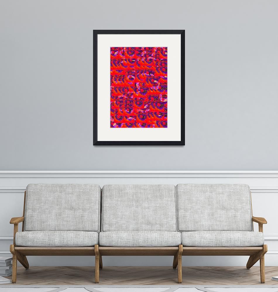 """""""Red Abstraction""""  (2011) by Cranbury"""