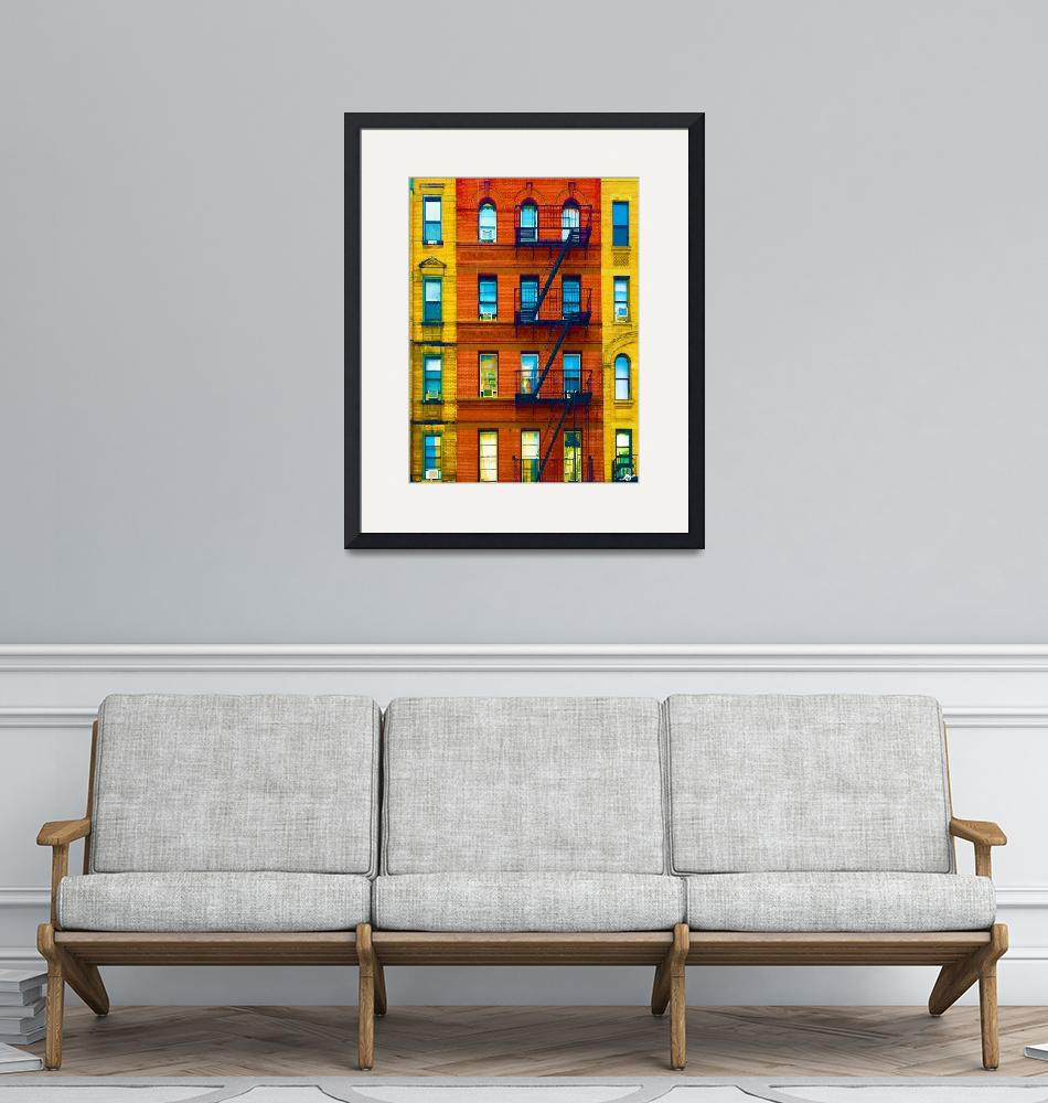 """""""New York City Apartment Building 2""""  (2017) by RubinoFineArt"""