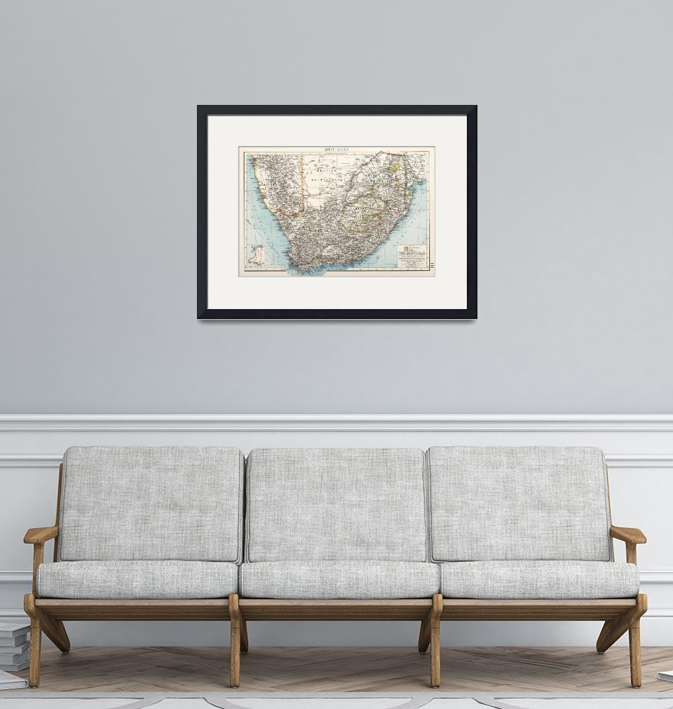 """Vintage Map of South Africa (1900)""  by Alleycatshirts"