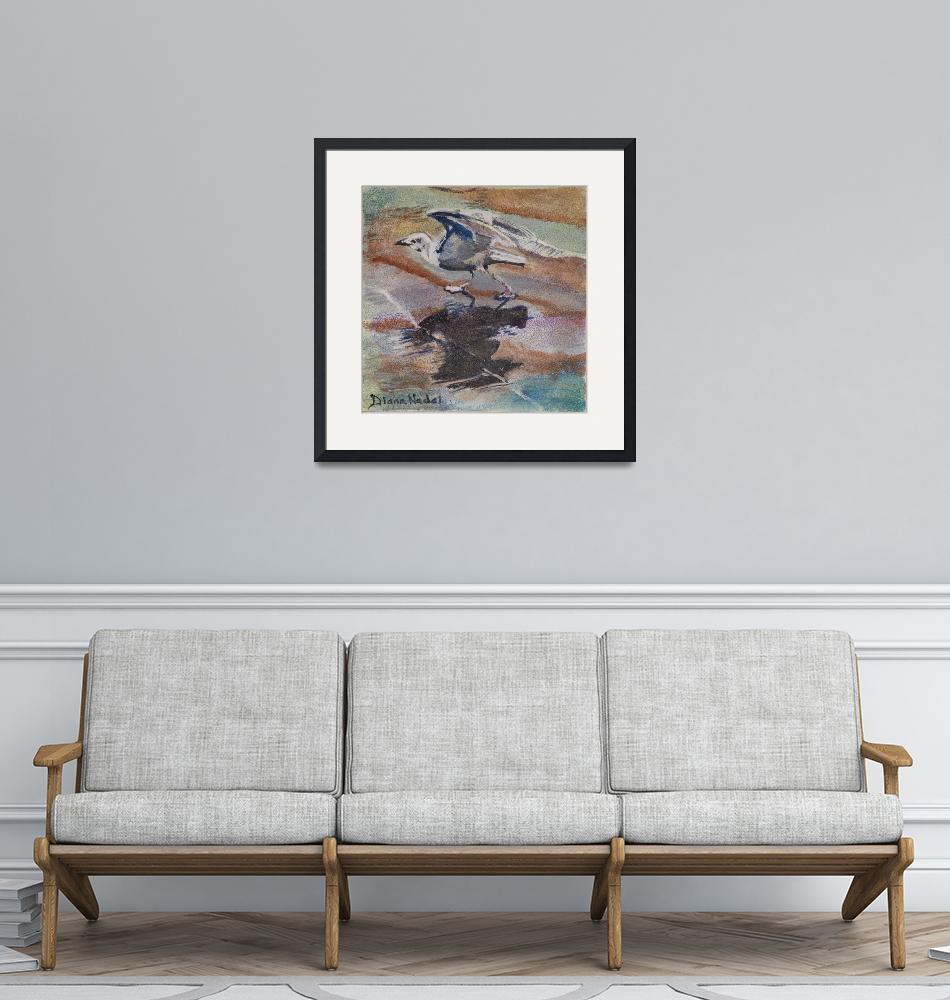 """""""Sea_Gull_Takes_Off""""  (2020) by DianaNadalFineArt"""