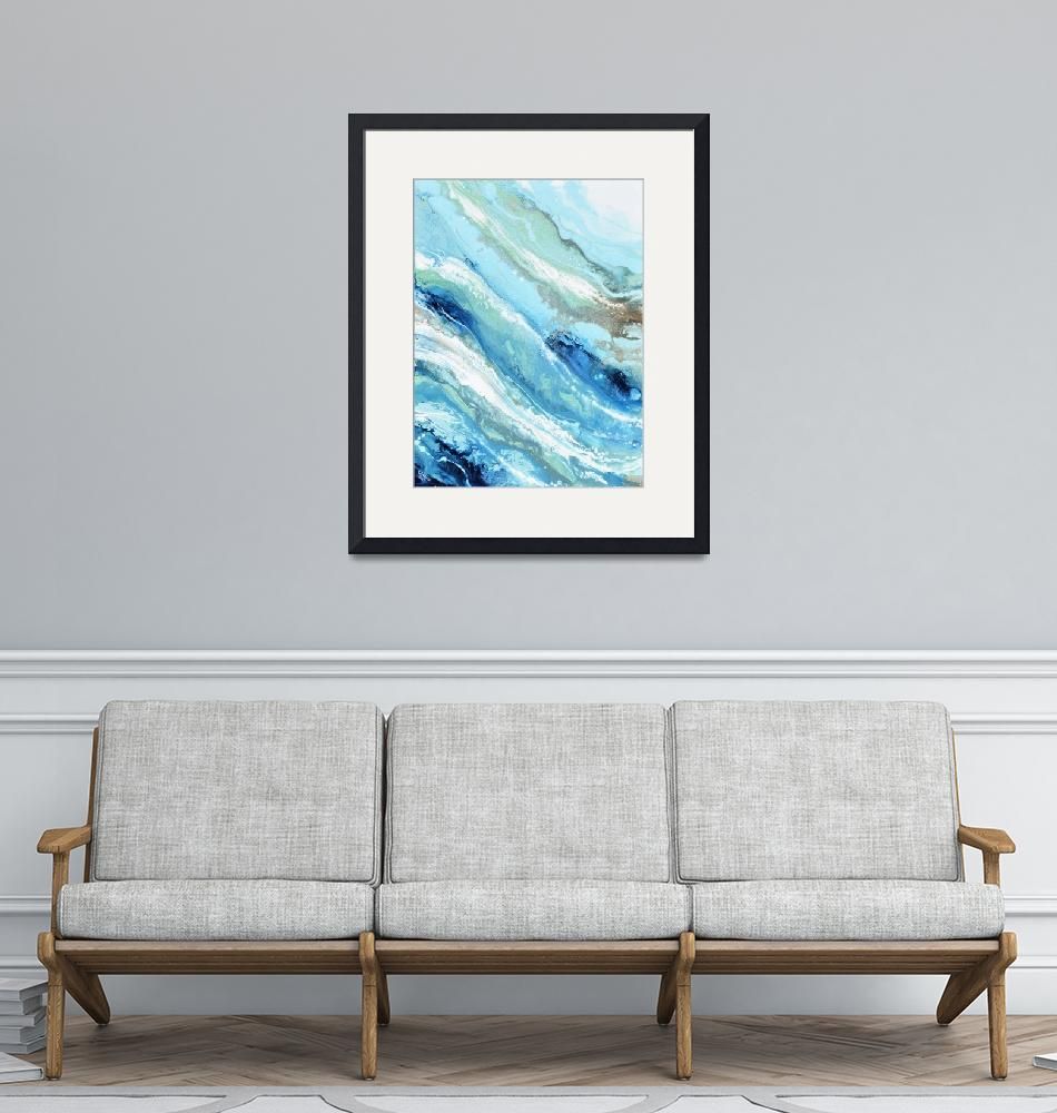 """""""""""Pacific Blue"""" Coastal Abstract""""  by ChristineBell"""