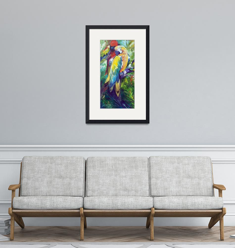 """""""MACAW PAIR 2412""""  (2016) by MBaldwinFineArt2006"""