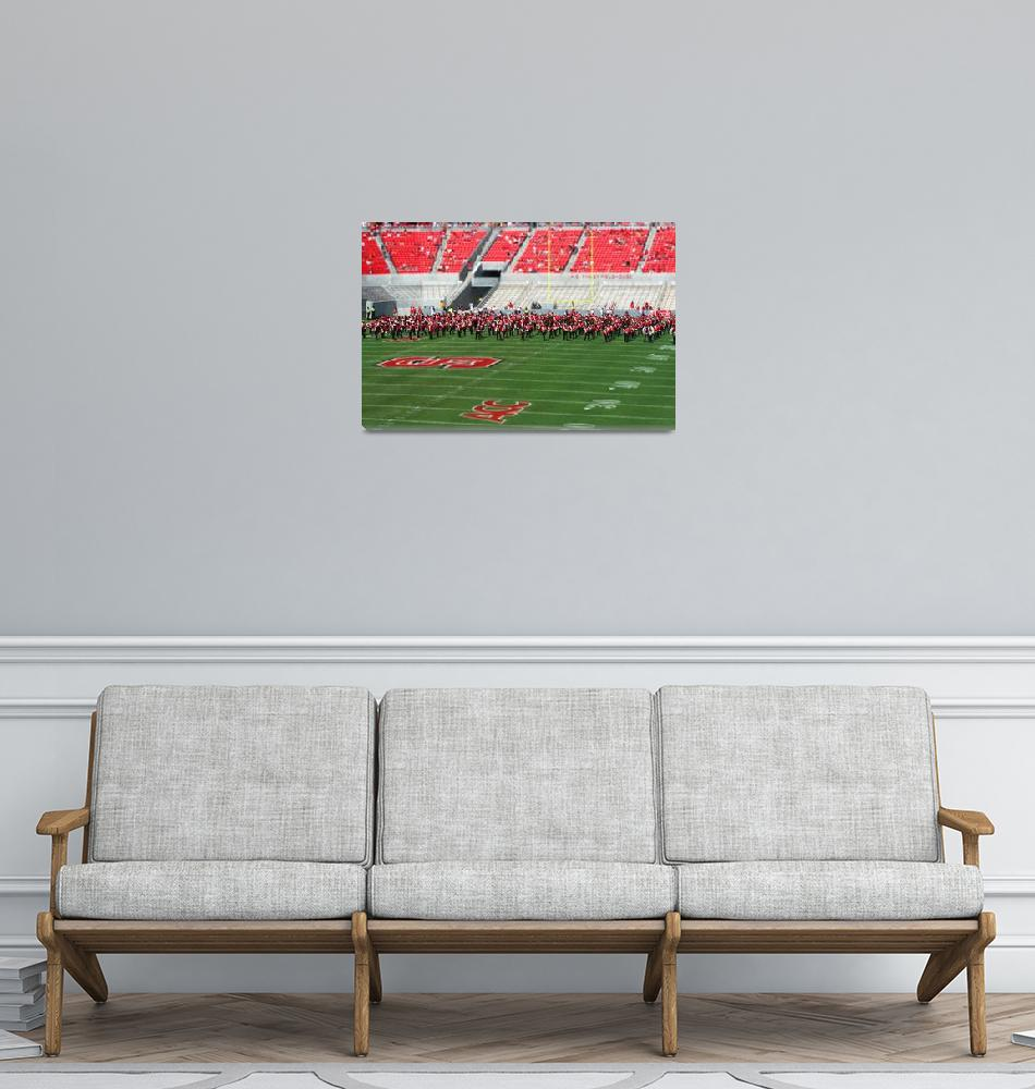 """""""NCSU band in miniature""""  (2007) by MargaretHarding"""