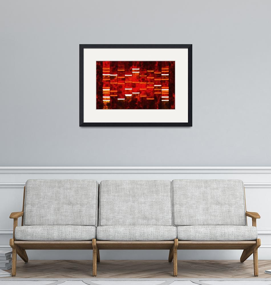 """""""Abstract Red DNA Art Paintings on Canvas""""  (2010) by DNAartonline"""