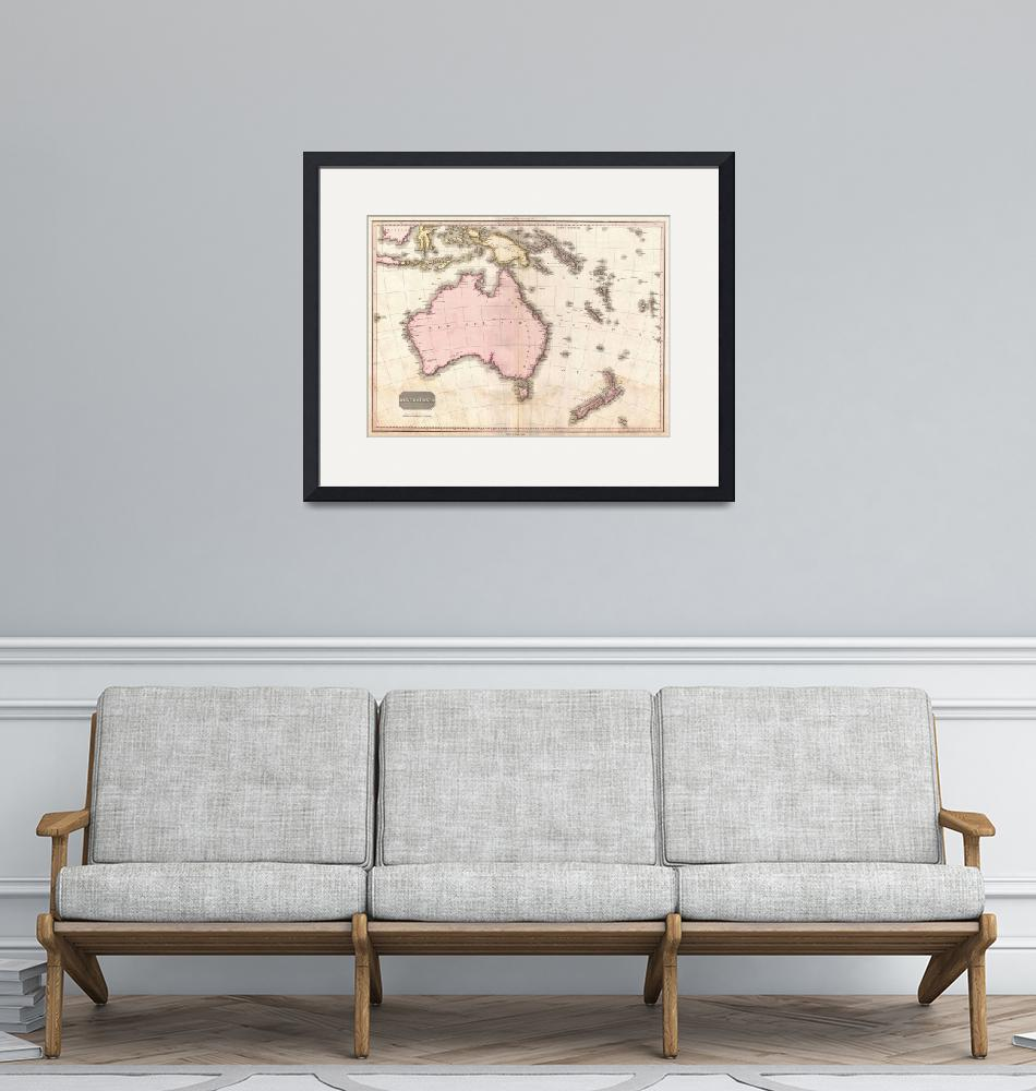 """Vintage Map of Australia (1818)""  by Alleycatshirts"