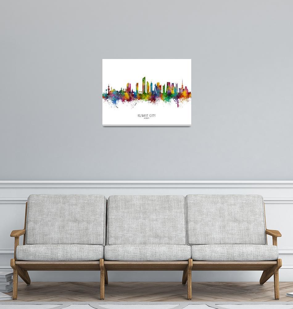 """""""Kuwait City Skyline""""  (2021) by ModernArtPrints"""