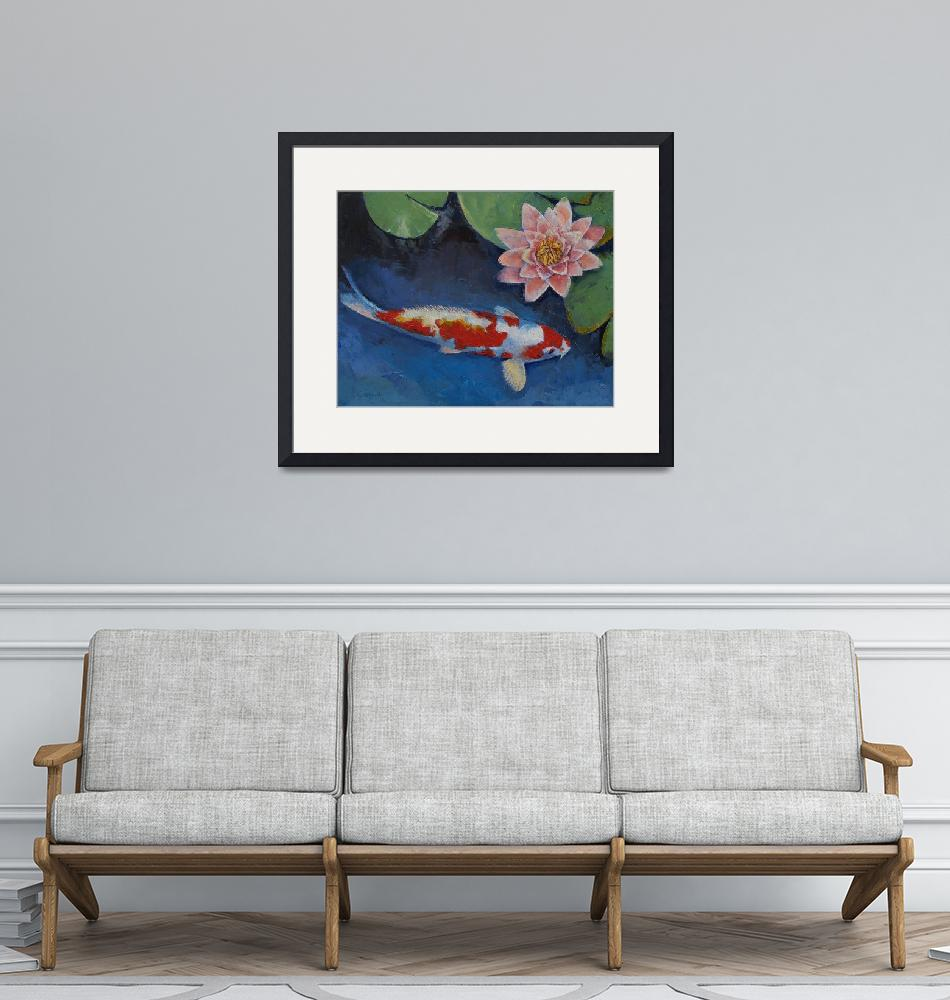 """""""Koi and Water Lily""""  by creese"""